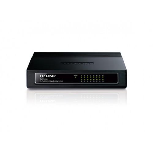 Switch de mesa de 16-Portas 10/100Mbps