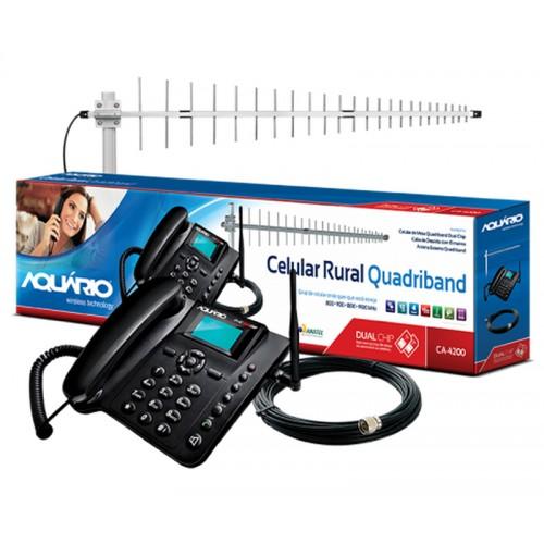 Kit Telefone Celular Rural 800MHZ- Telefone Mesa +cabo+ Antena17dbi